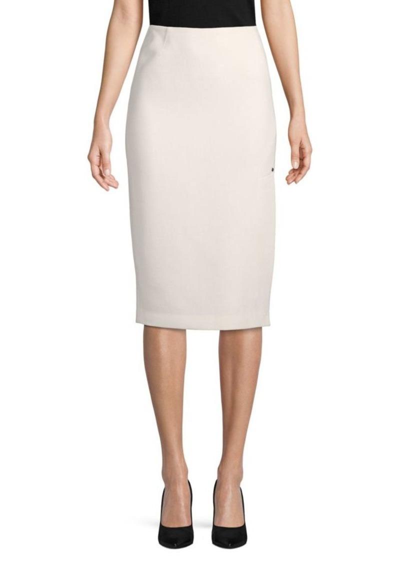 Lafayette 148 Lucina Wool Knee-Length Skirt