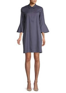 Lafayette 148 Lunella Bell-Sleeve Shift Dress