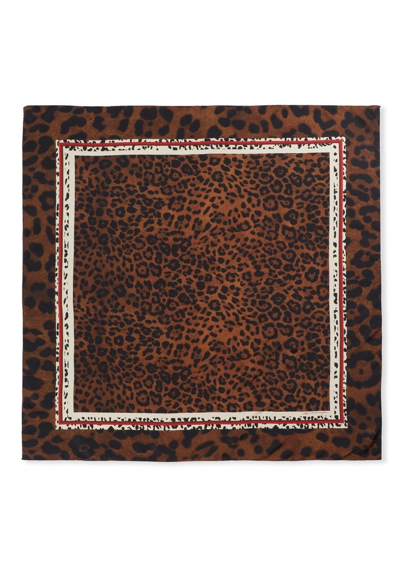 Lafayette 148 Luscious Leopard Silk Scarf