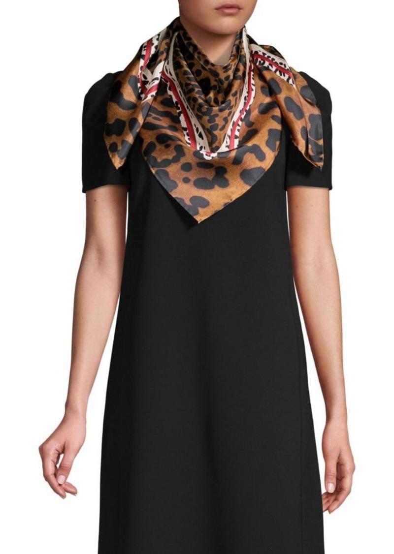 Lafayette 148 Luscious Leopard Silk Square Scarf