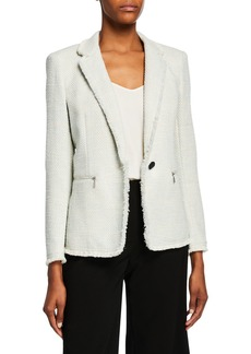 Lafayette 148 Lyndon Morning Dew Tweed Jacket