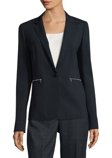 Lafayette 148 Lyndon One-Button Blazer