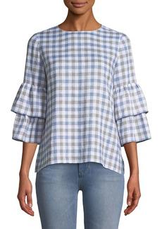 Lafayette 148 Mabel Long-Sleeve Linen Blouse