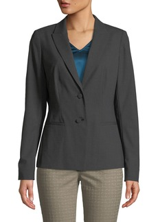 Lafayette 148 Mabel Two-Button Suiting Jacket  Gray
