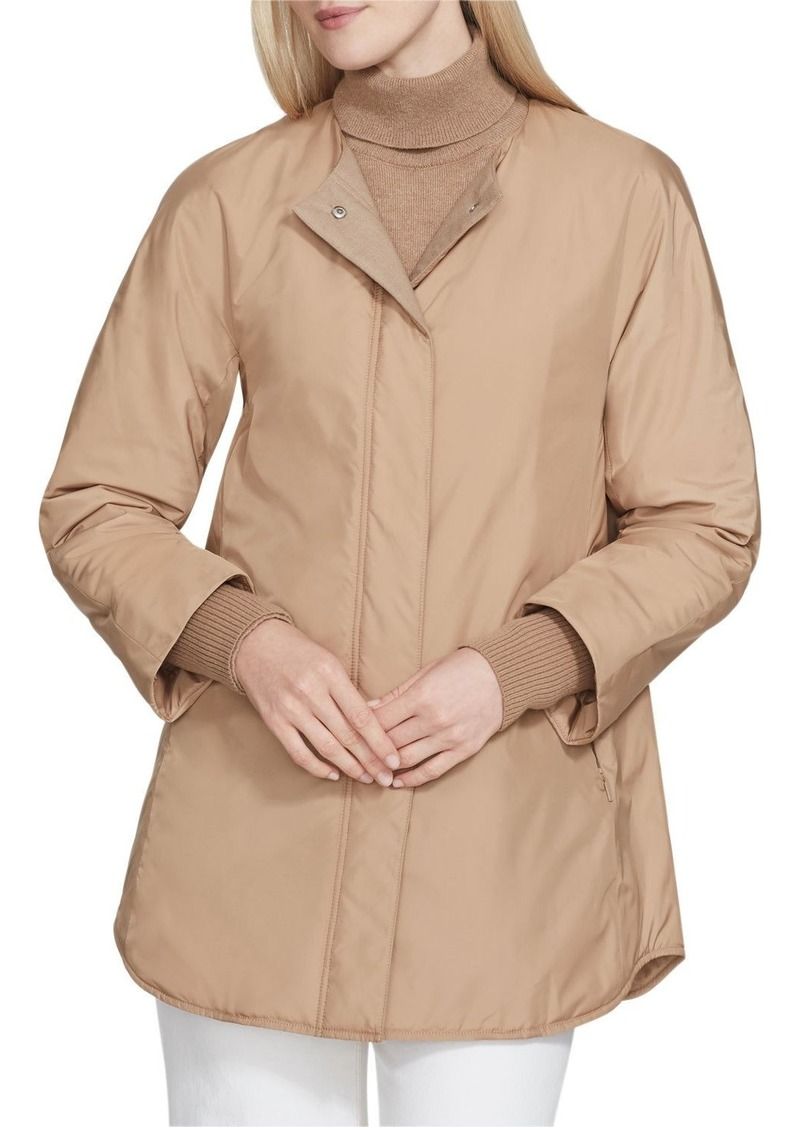 Lafayette 148 Mackay Alpine Outerwear Coat with Knit Combo