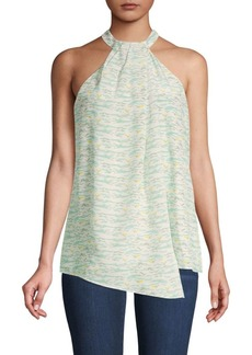 Lafayette 148 Madison Abstract Halter Top