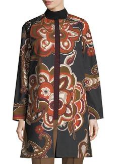 Lafayette 148 Makeda Floral Topper Jacket