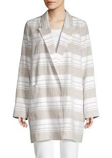 Lafayette 148 Malika Striped Linen-Blend Jacket