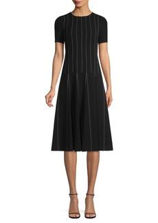 Lafayette 148 Malita Drop-Waist Midi Dress