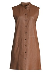 Lafayette 148 Malva Lamb Leather Longline Vest