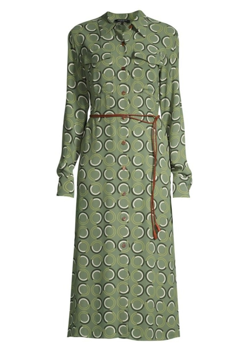 Lafayette 148 Mandalyn Belted Abstract Shirtdress