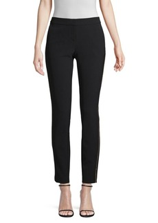 Lafayette 148 Manhattan Beaded Stripe Slim Pants