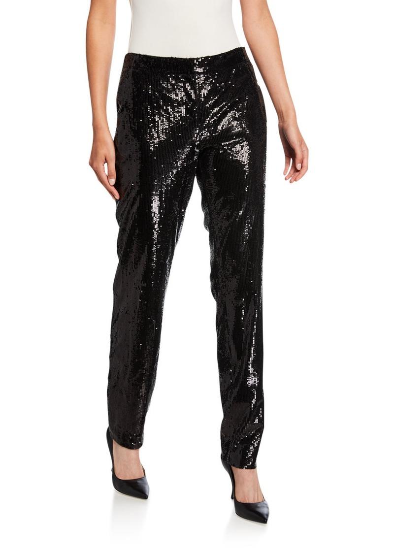 Lafayette 148 Manhattan City Sequins Slim Pants