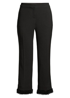 Lafayette 148 Manhattan Double-Face Flare Ankle Pants