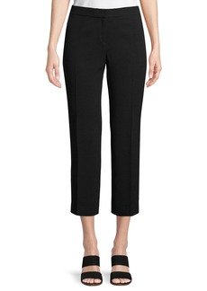 Lafayette 148 Manhattan Finesse Crepe Cropped Flare Pants