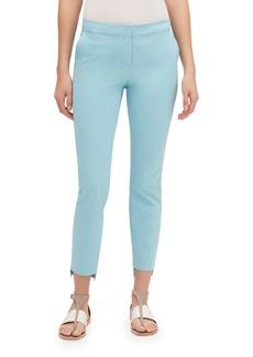 Lafayette 148 Manhattan Fundamental Bi-Stretch Slim Pants w/ Step Hem