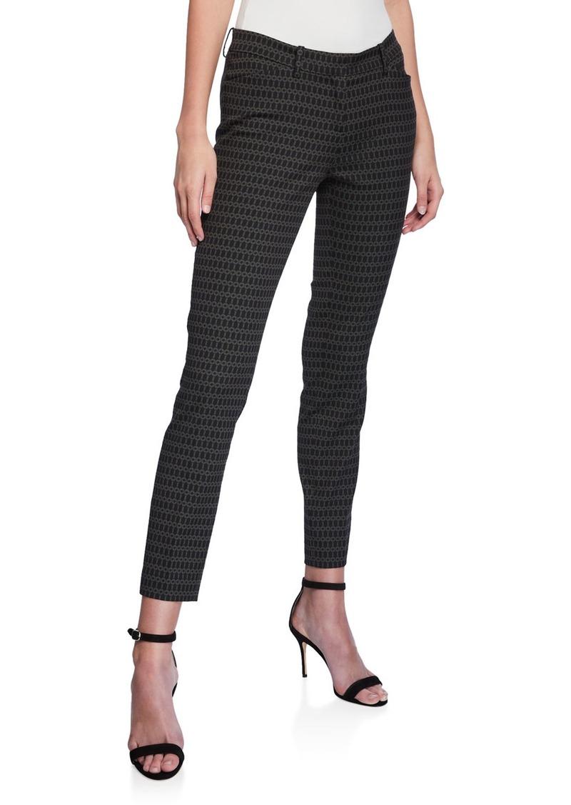 Lafayette 148 Manhattan Link-Print Skinny Pants