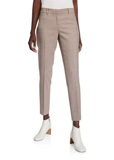Lafayette 148 Manhattan Skinny Haberdashery Mini Check Pants