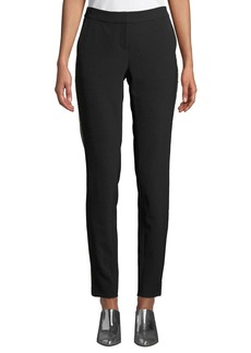 Lafayette 148 Manhattan Sleek Tech Cloth Pants with Beaded Seam