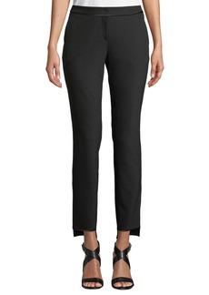 Lafayette 148 Manhattan Slim-Leg Stretch Pants w/ Step Hem