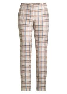 Lafayette 148 Manhattan Slim Plaid Pants