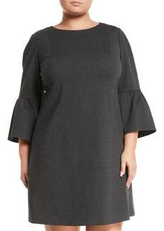 Lafayette 148 Marissa 3/4-Bell-Sleeve Punto Milano Dress