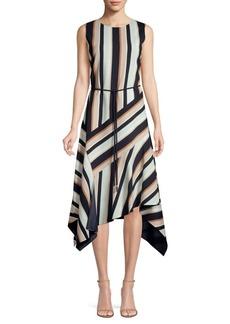 Lafayette 148 Marnie Belted Asymmetric Dress
