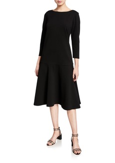 Lafayette 148 Martha Punto Milano A-Line Dress