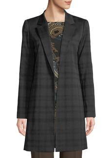 Lafayette 148 Mattia Plaid Crepe Jacket