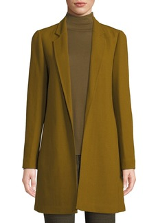 Lafayette 148 Mattia Wool Notched-Lapel Long Jacket