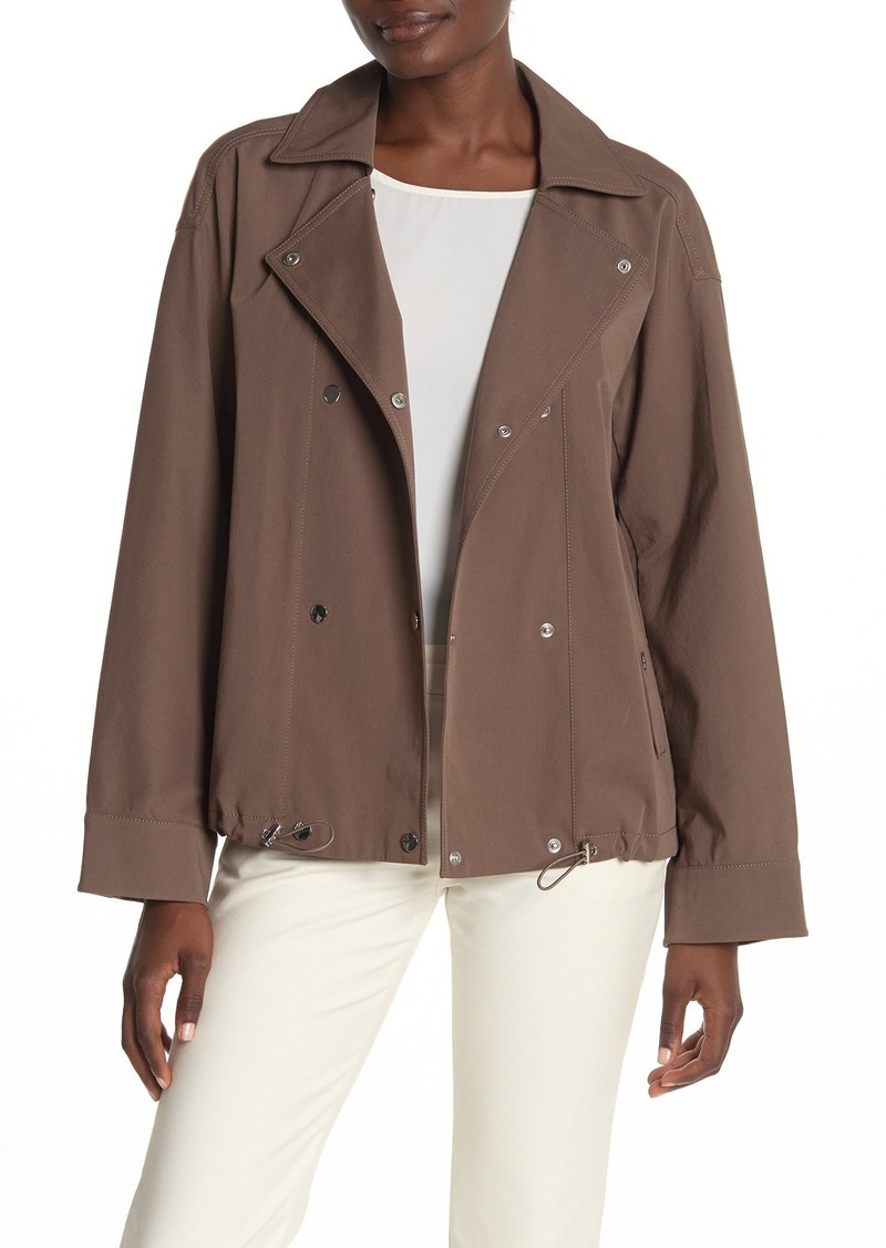 Lafayette 148 Maxton Twill Double Breasted Snap Jacket
