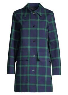 Lafayette 148 Mckinleigh Plaid Coat