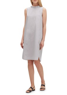 Lafayette 148 Mela Languid-Stripe Sleeveless Shift Dress