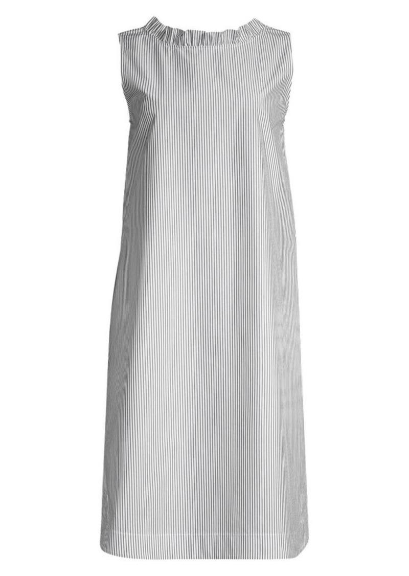 Lafayette 148 Mela V-Back Striped Shift Dress