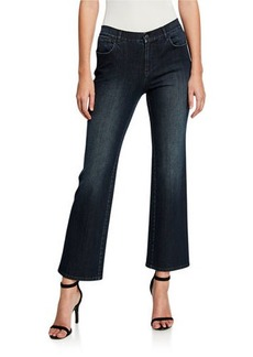 Lafayette 148 Mercer 11 Oz Prestige Denim Cropped Flare Jeans