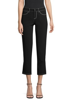Lafayette 148 Mercer Contrast Stitch Cropped Pants
