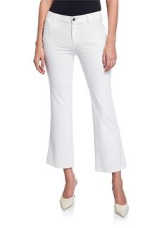 Lafayette 148 Mercer Cropped Flare Denim Jeans