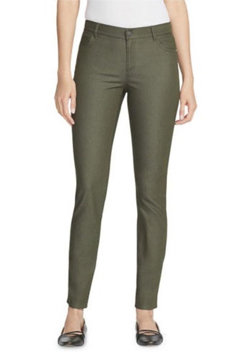 Lafayette 148 Mercer Primo Stretch-Denim Mid-Rise Skinny Jeans
