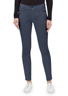Lafayette 148 Mercer Skinny-Leg Waxed Denim Jeans