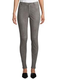 Lafayette 148 Mercer Skinny Suede & Ponte Pants