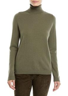 Lafayette 148 Metallic Cashmere Pullover Turtleneck Sweater