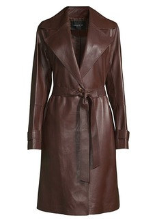 Lafayette 148 Michael Leather Trench Coat