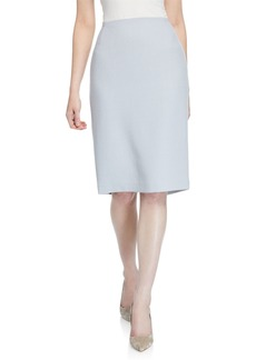 Lafayette 148 Mid-Rise Wool Pencil Skirt