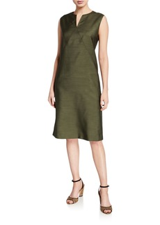 Lafayette 148 Millie Gateway Cloth Sleeveless Dress