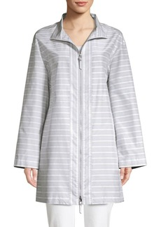 Lafayette 148 Minerva Cotton Silk Striped Jacket