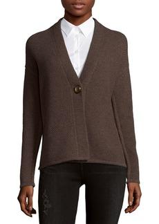 Lafayette 148 Mixed Stitch Wool Cardigan