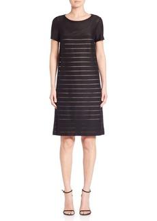 Lafayette 148 Mixed Stripe Shift Dress