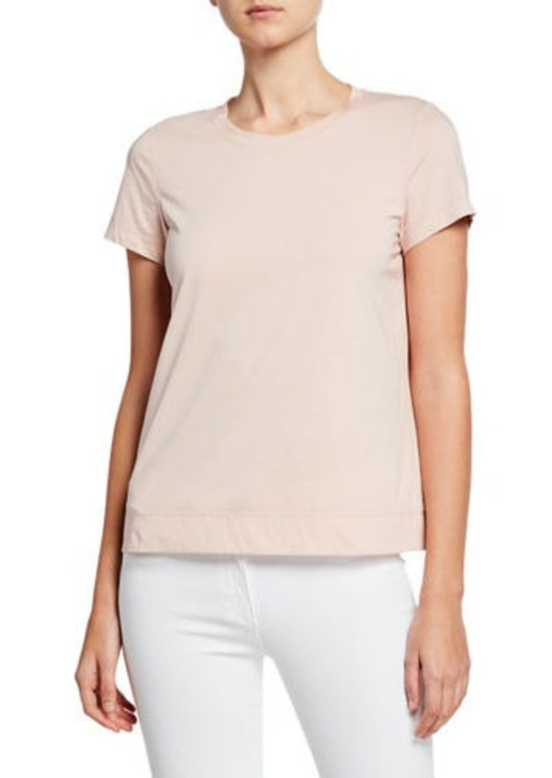 Lafayette 148 Modern Short-Sleeve Cotton Jersey Tee