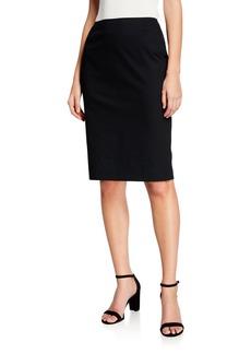 Lafayette 148 Modern Slim Cotton-Stretch Pencil Skirt
