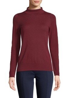 Lafayette 148 Modern Turtleneck Wool Sweater